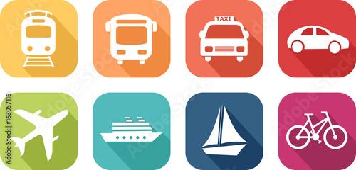Cuadros en Lienzo  Icône de véhicules de transport