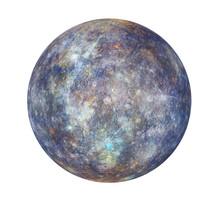 Planet Mercury Isolated