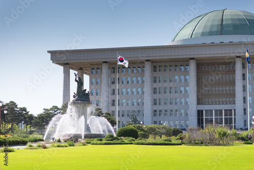 The National Assembly of South Korea, situated in Yeouido, Seoul. Poster