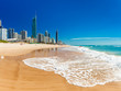 SURFERS PARADISE, AUS - SEPT 05 2016 Skyline and a beach of Surfers Paradise, Gold Coast