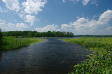 Boat Channel: A Waterway For Small Boats Leads Into The Chippewa Flowage Lake Region Of Northern Wisconsin.