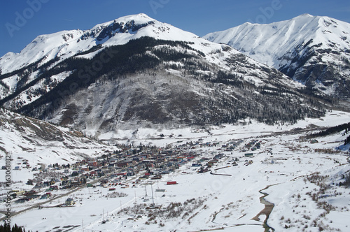 Fotografie, Obraz  Colorado Mountain Town: New spring snow covers the San Juan Mountains surrounding Silverton, Colorado
