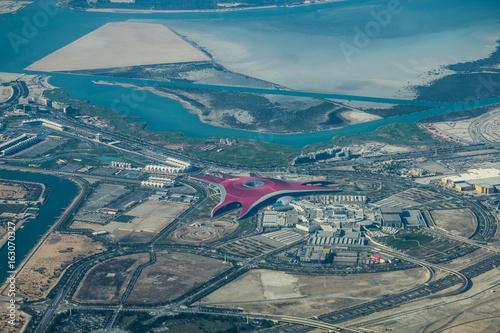 In de dag Abu Dhabi Yas Island, Abu Dhabi - Luftbild
