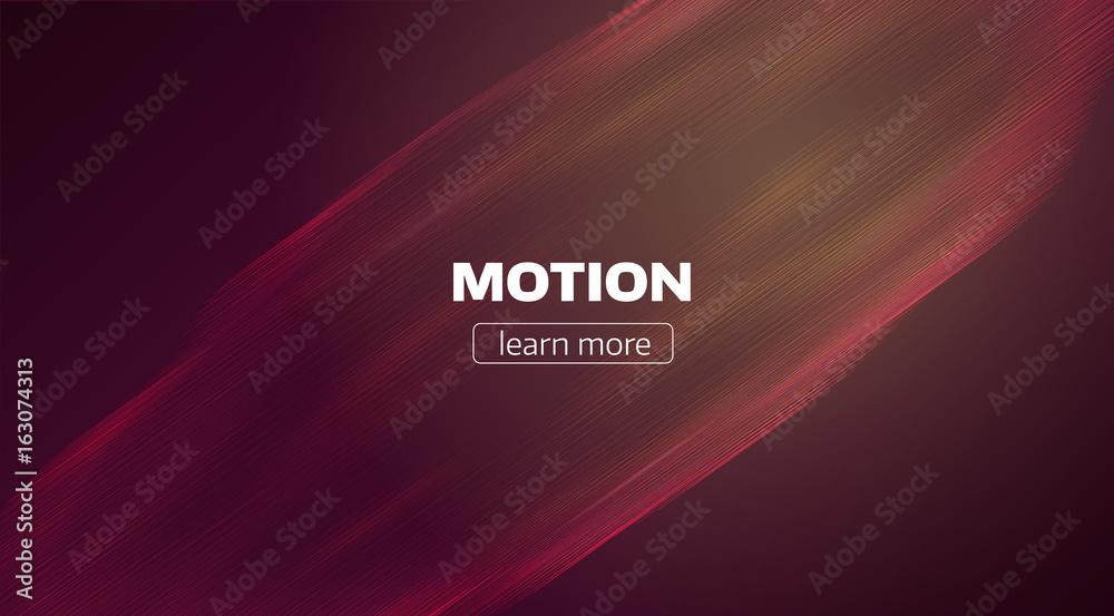 Fototapety, obrazy: Motion lines background. Minimal wave flow backdrop. Speed stream