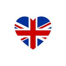 Flag Of Great Britain Heart Si...