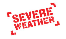 Severe Weather Rubber Stamp. G...