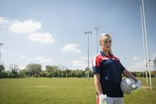 Female Goalie Looking Away