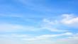 Leinwandbild Motiv Blauer Himmel mit Wolken