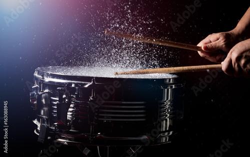 The drum sticks are hitting Fototapeta