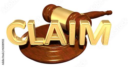 Claim Law Concept 3D Illustration Wallpaper Mural