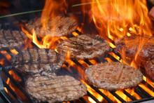 Barbecue Grill Cooking Burger ...