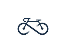 Bike Icon Logo Design Element