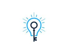 Key Idea Icon Logo Design Elem...