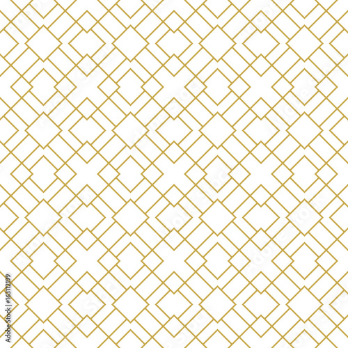 Fotografía  Modern stylish seamless geometric vector pattern with thin linear squares