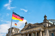 Leinwanddruck Bild - Reichstag building, seat of the German Parliament