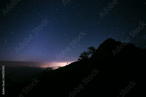 Fotografering  milky way over mountain
