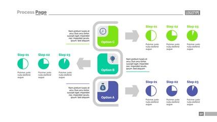 Three Options Flowchart Slide Template