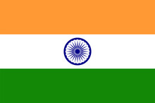 Indian Flag. Flat Vector Illus...