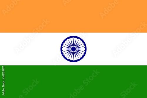 Indian flag. Flat vector illustration EPS 10 Fotobehang