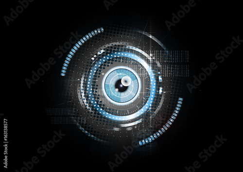 Fotomural  Technological abstract retina scanning concept background vector