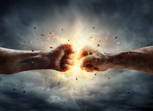 Conflict Concept - Two Fist In...