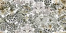 Safari Dreams. Grunge Background With Leopard Spots.