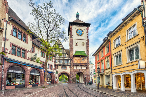 Canvas Prints Historical buildings Schwabentor - historical city gate in Freiburg im Breisgau, Baden-Wurttemberg, Germany