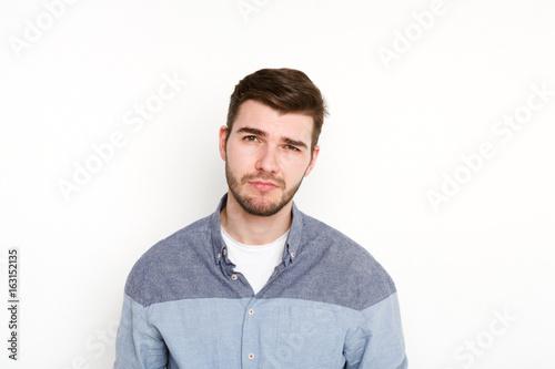 Fotografie, Obraz  Feeling upset, sad man portrait