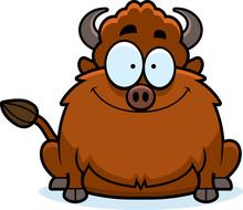 Smiling Cartoon Bison