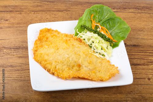 Photo  Fried Dory fish