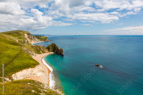 Durdle Door, Dorset tourist attraction view from west side Poster
