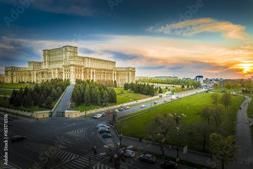 Obrazy na płótnie Canvas The Palace of the Parliament, Bucharest, Romania.