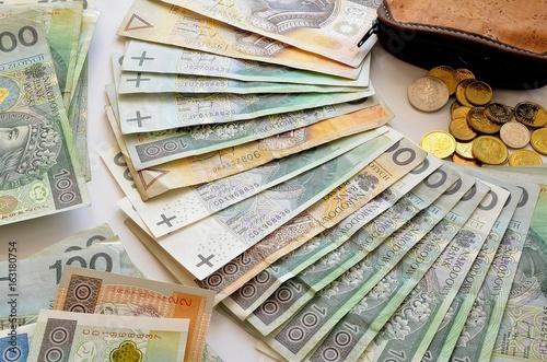 polskie pieniądze Fototapeta