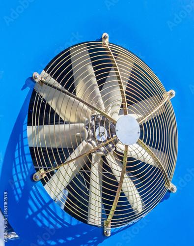 Fotografie, Obraz  Fan sprayer of the agricultural machine. blue metal