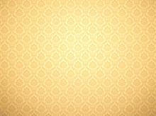 Gold Damask Pattern Background