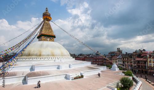 Staande foto Nepal Der Bodanath Tempel in Kathmandu