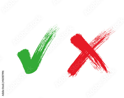 Obraz Check mark - stock vector. - fototapety do salonu