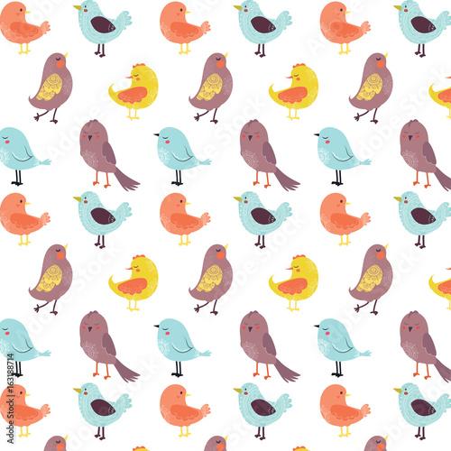 tlo-w-kolorowe-ptaszki-w-symetrycznym-ustawieniu