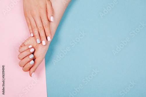 Poster Manicure Stylish trendy female manicure