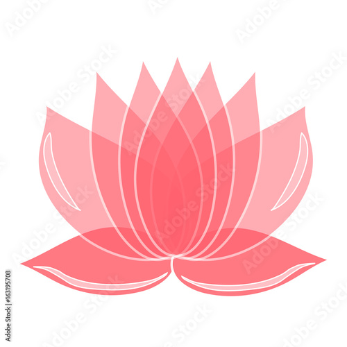 Pink Lotus Flower Element Of Design You Can Use As A Logo The Emblem Of A Studio Yoga Spa Cosmetic Brand Print On Clothes Buy This Stock Vector And Explore Similar