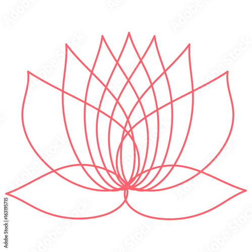 Pink Lotus Flower Element Of Design You Can Use As A Logo The