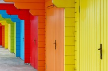 Beach Huts Seaside With House ...