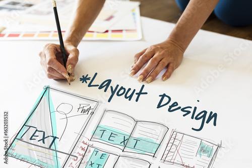 Fotografía  E-book layout design draft graphic
