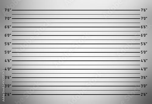 Fényképezés  Police lineup or mugshot background