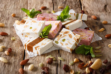 French Fresh Nougat With Nuts ...