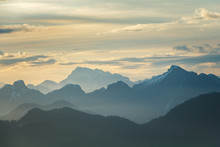 Daybreak Over Mountains