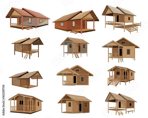 Fotografía beautiful hut vector design