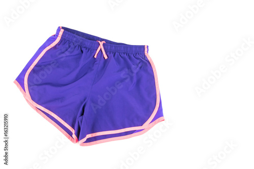Obraz Female workout shorts on a white background. - fototapety do salonu