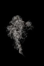 Abstract Puff Of Smoke On Blac...
