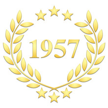 Lauriers 3 étoiles 1957 Sur Fond Blanc